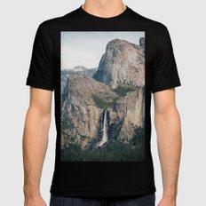Yosemite Waterfall MEDIUM Mens Fitted Tee Black