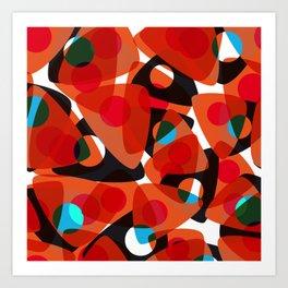 orange 70s Art Print