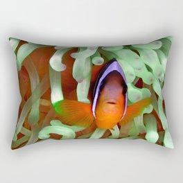 Clownfish in Pale Green Anemone Rectangular Pillow