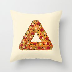 Penrose Pizza Throw Pillow