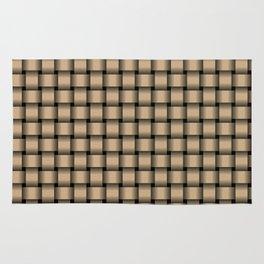 Small Tan Brown Weave Rug