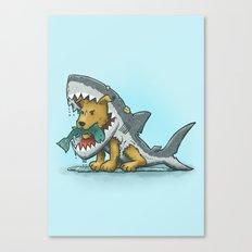 Shark Suit Dog Canvas Print