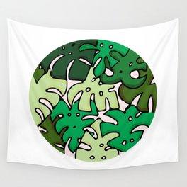 Monstera Circle Wall Tapestry