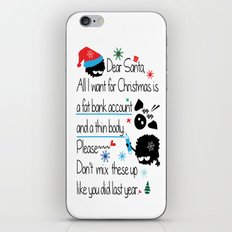 Dear Santa iPhone & iPod Skin
