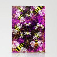 bees Stationery Cards featuring Bees by Marven RELOADED
