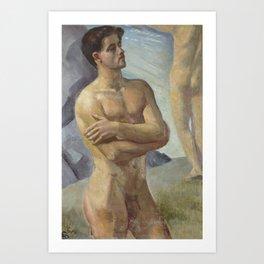 Bathing Men by Georg Pauli Art Print