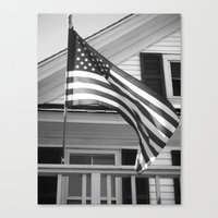 flag Canvas Prints featuring Flag by Block-by-Block