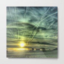 strange clouds......... Metal Print