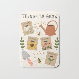 Things to Grow - Garden Seeds Bath Mat