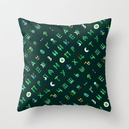 Cyrillic Letters  Throw Pillow