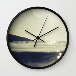 Fistral Beach Summer evening Seascape Wall Clock