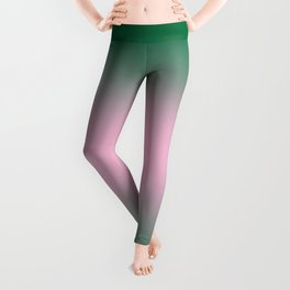 Cadmium Green to Cotton Candy Pink Bilinear Gradient Leggings