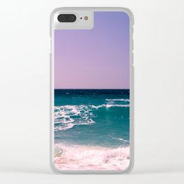 Azure Waves Clear iPhone Case