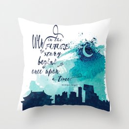 The Lunar Chronicles Quote Throw Pillow