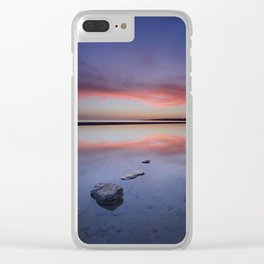 """Purple....."" Tarifa beach. Clear iPhone Case"
