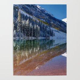 Fall Season at Maroon Bells Panoramic Image Poster