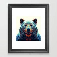 Bear - Colorful Animals Framed Art Print