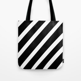 Black'n'White Stripes Tote Bag