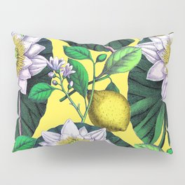 Vintage Lotus + Lemons Pillow Sham
