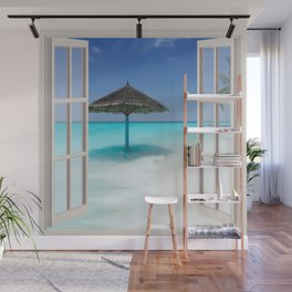 Idyllic Maldives | OPEN WINDOW ART Wall Mural