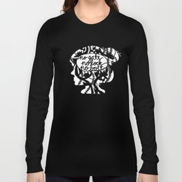 No Gate, No Lock, No Bolt in Black and White Long Sleeve T-shirt