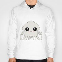 pastel goth Hoodies featuring Pastel Goth Chibi Squid by Dead Fox Clothing