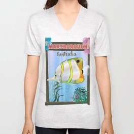 Maryborough Australia travel poster Unisex V-Neck