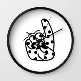 D design sign language Wall Clock