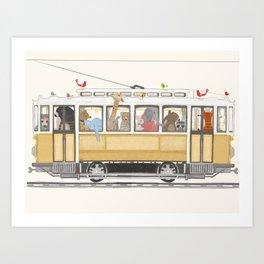 a city adventure Art Print