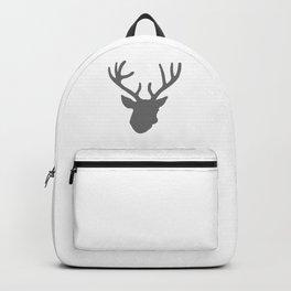 Deer Head: Grey Backpack