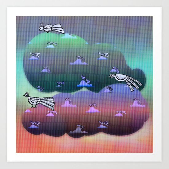 Migration to paradise Art Print