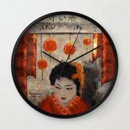 THE RED THREAD Wall Clock