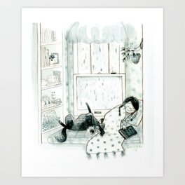 Cozy Window Art Print