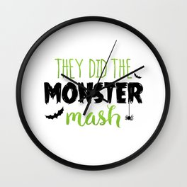 They Did The Monster Mash Wall Clock