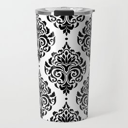 Black and White Damask Travel Mug