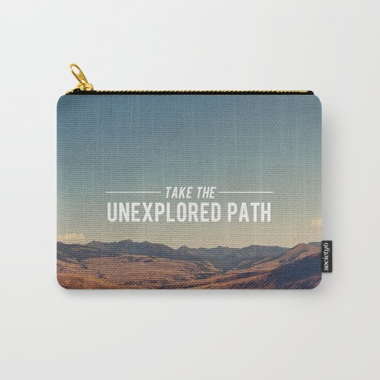Take The Unexplored Path Carry-All Pouch