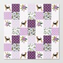 Airedale Terrier pure breed cheater quilt pattern dog lovers by pet friendly by petfriendly