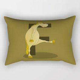 Pony Monogram Letter F Rectangular Pillow