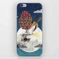 brompton iPhone & iPod Skins featuring Flying Bicycle by Wyatt Design