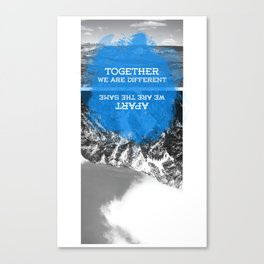 together and apart Canvas Print