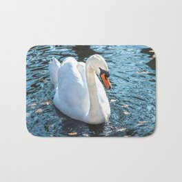 The white swan Bath Mat