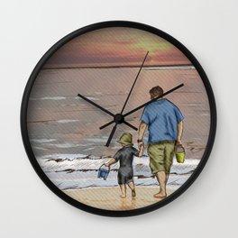 Father and Son - Seasonal Skies Wall Clock