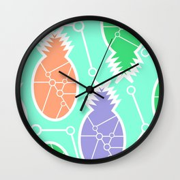 Pineapple network Wall Clock