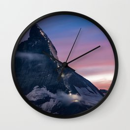 Matterhorn, Switzerland #society6 #decor #buyart Wall Clock