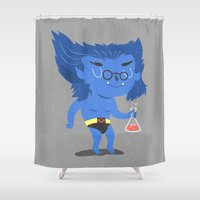 beast Shower Curtains featuring Beast by Rod Perich
