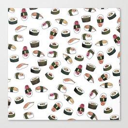 Sushi on White Canvas Print