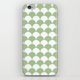 Fan Pattern 321 Sage Green iPhone Skin