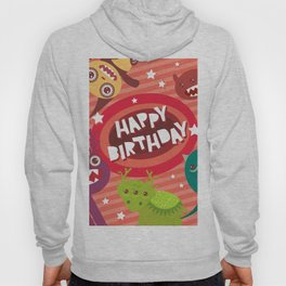 Happy birthday Funny monsters card Hoody