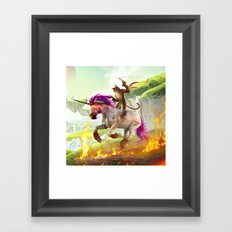 Awesome Cat Framed Art Print