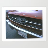 mustang Art Prints featuring Mustang by IAMREBEL